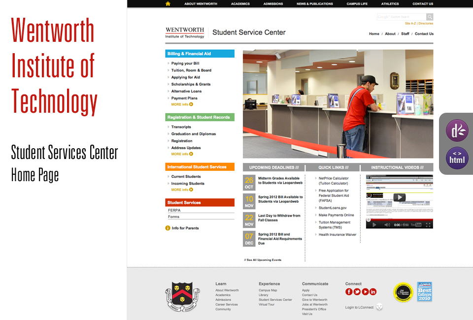 Wentworth Institute of Technology | Student Service Center