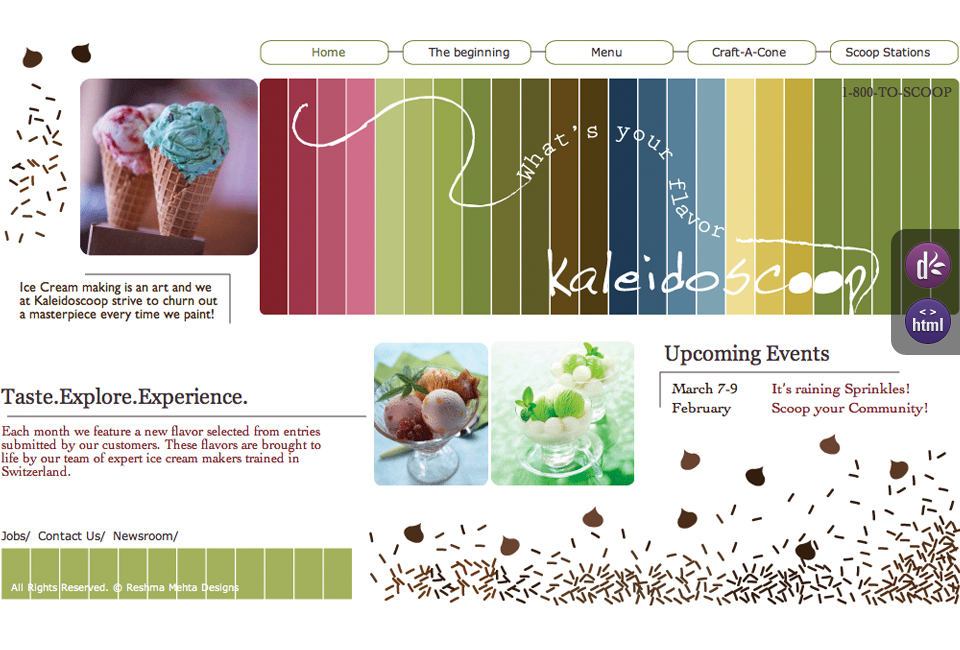 Concept Icecream Site - Kaleidoscoop
